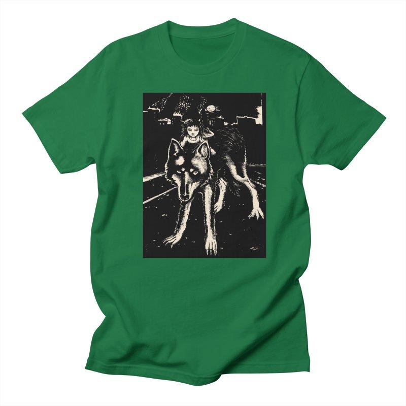 wolf rider Men's T-Shirt by truthpup's Artist Shop