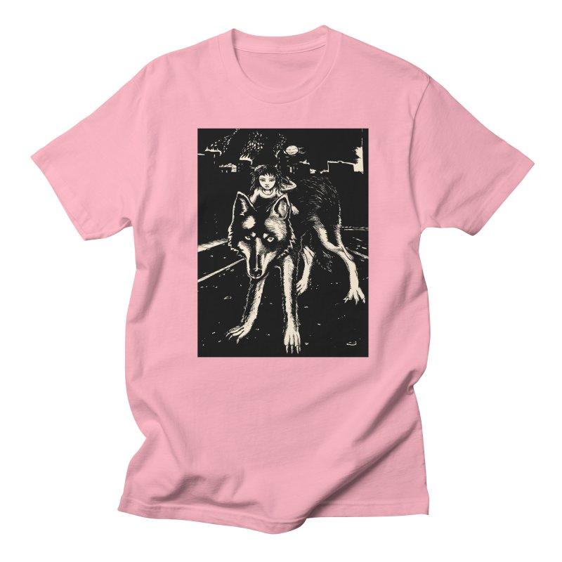 wolf rider Men's Regular T-Shirt by truthpup's Artist Shop