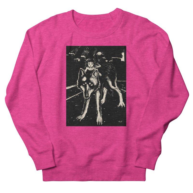 wolf rider Women's French Terry Sweatshirt by truthpup's Artist Shop