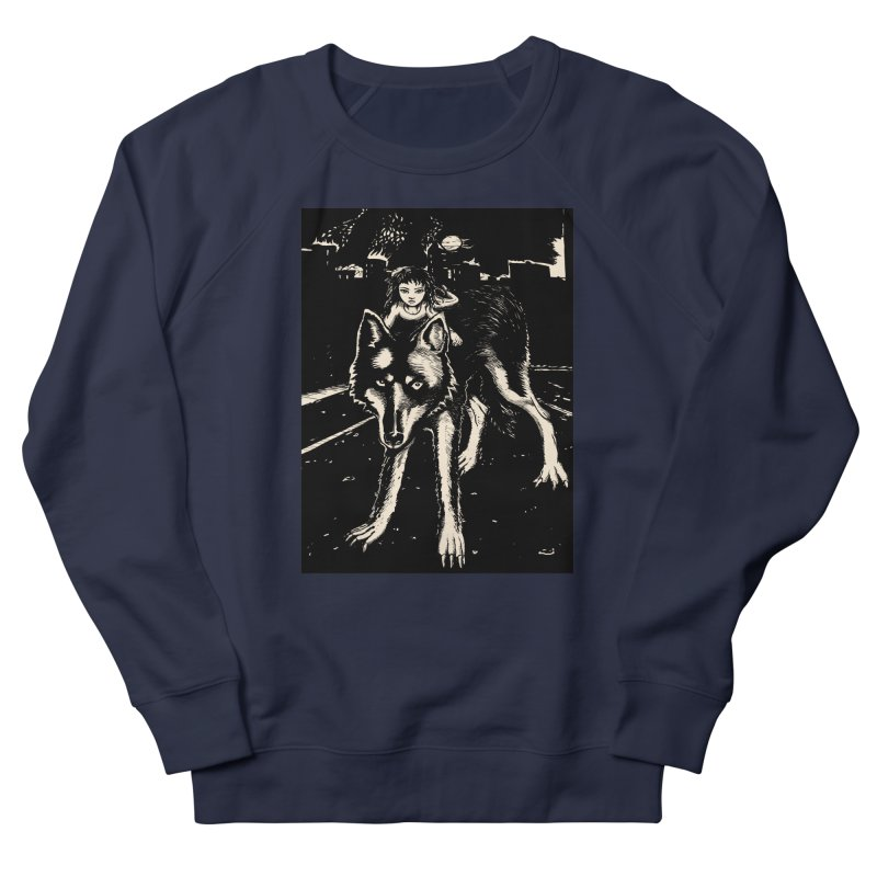 wolf rider Women's French Terry Sweatshirt by truthpup's Artist Shop
