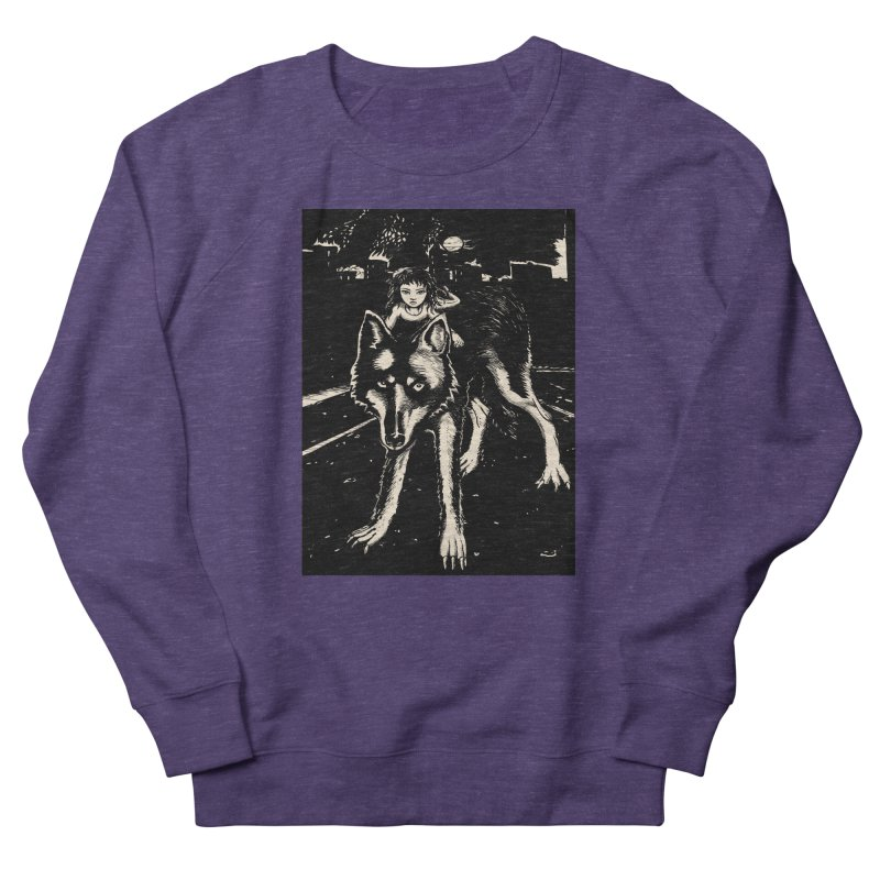 wolf rider Men's Sweatshirt by truthpup's Artist Shop