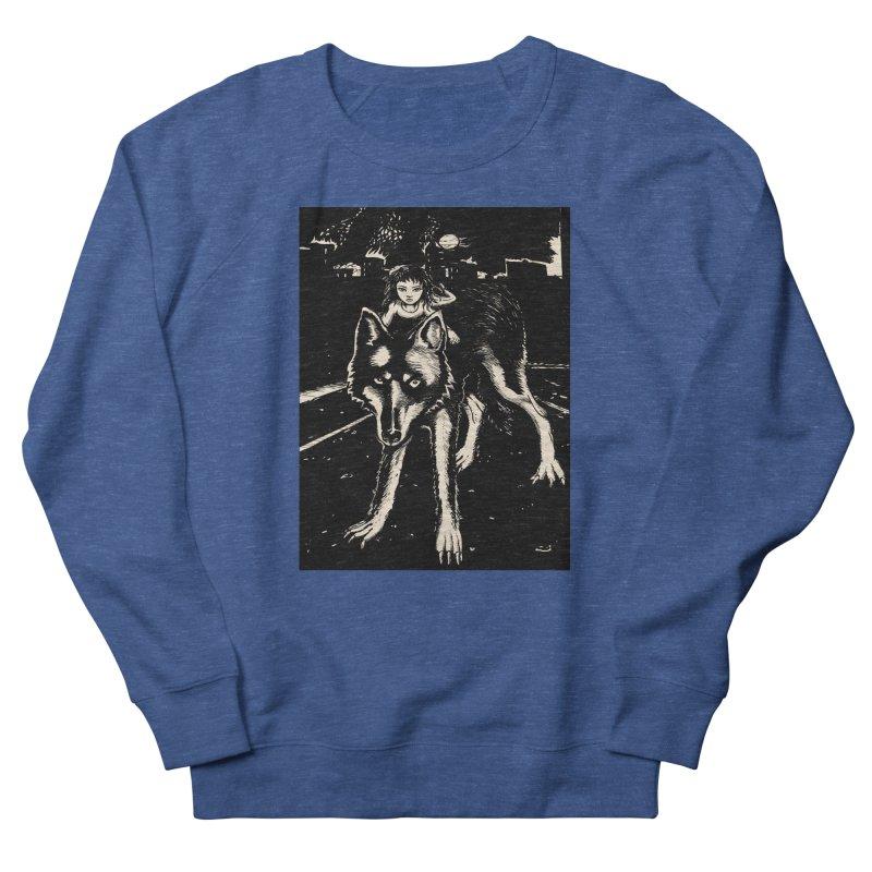 wolf rider Men's Sweatshirt by truthpup's Artist Shop