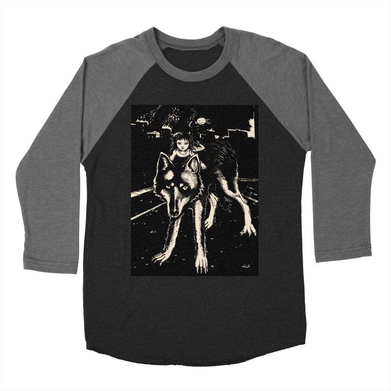 wolf rider Women's Baseball Triblend Longsleeve T-Shirt by truthpup's Artist Shop