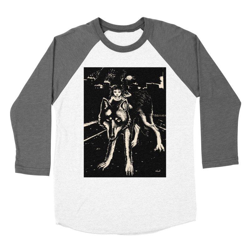 wolf rider Men's Baseball Triblend Longsleeve T-Shirt by truthpup's Artist Shop