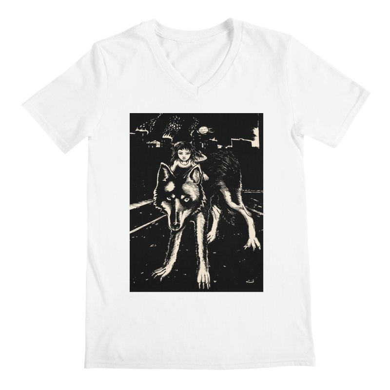 wolf rider Men's V-Neck by truthpup's Artist Shop
