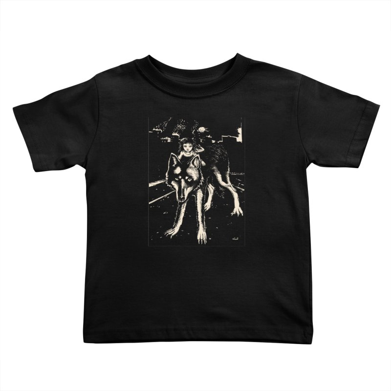 wolf rider Kids Toddler T-Shirt by truthpup's Artist Shop
