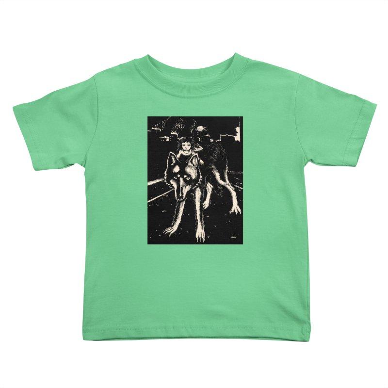 wolf rider Kids Toddler T-Shirt by truthpup's Artist Shop