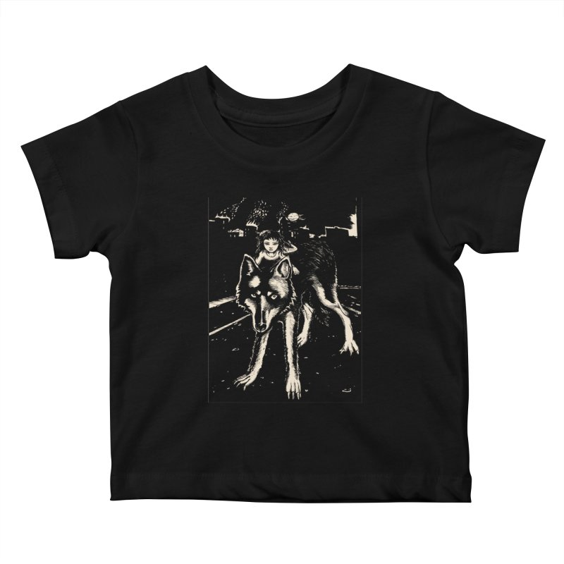 wolf rider Kids Baby T-Shirt by truthpup's Artist Shop