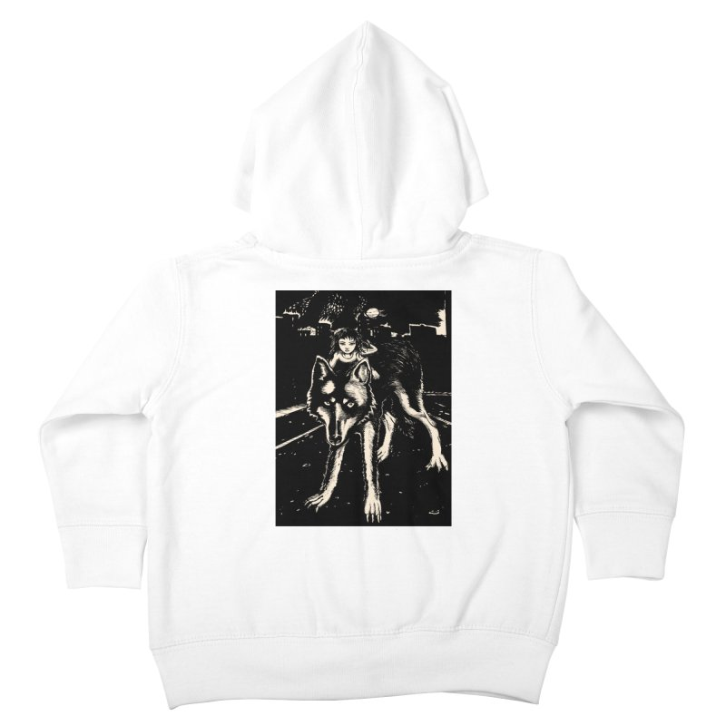 wolf rider Kids Toddler Zip-Up Hoody by truthpup's Artist Shop