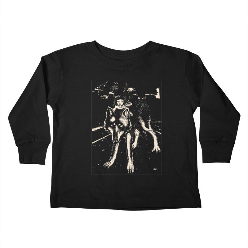 wolf rider Kids Toddler Longsleeve T-Shirt by truthpup's Artist Shop