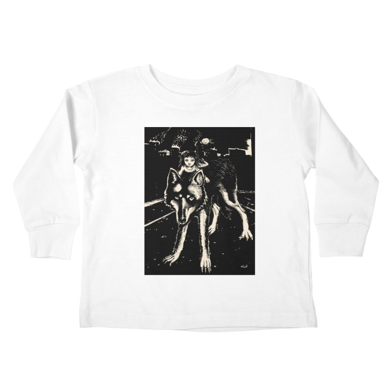 wolf rider Kids Toddler Longsleeve T-Shirt by truthpup's Artist Shop