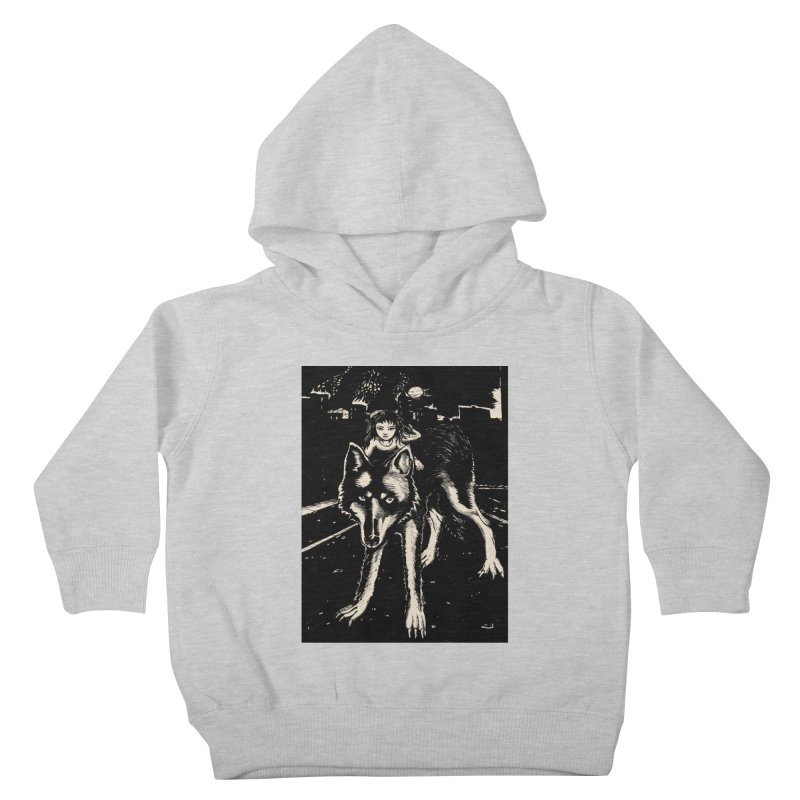 wolf rider Kids Toddler Pullover Hoody by truthpup's Artist Shop