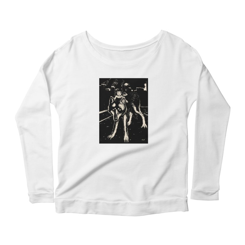 wolf rider Women's Longsleeve T-Shirt by truthpup's Artist Shop