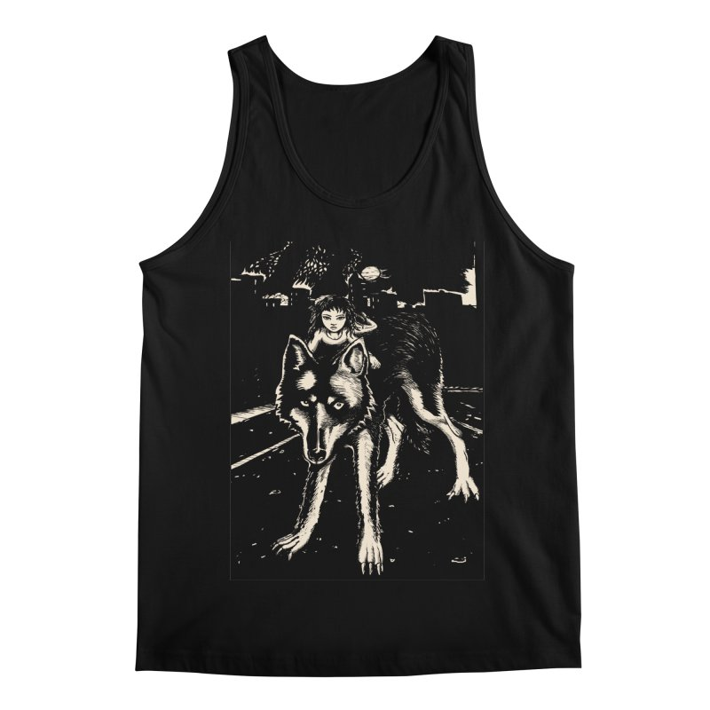 wolf rider Men's Regular Tank by truthpup's Artist Shop