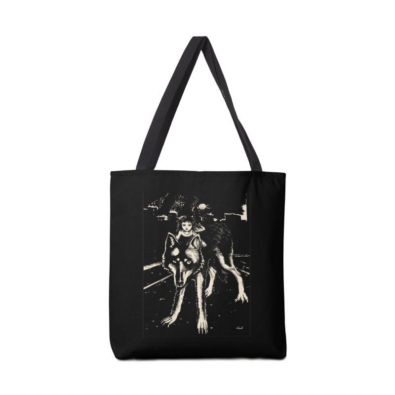wolf rider Accessories Tote Bag Bag by truthpup's Artist Shop