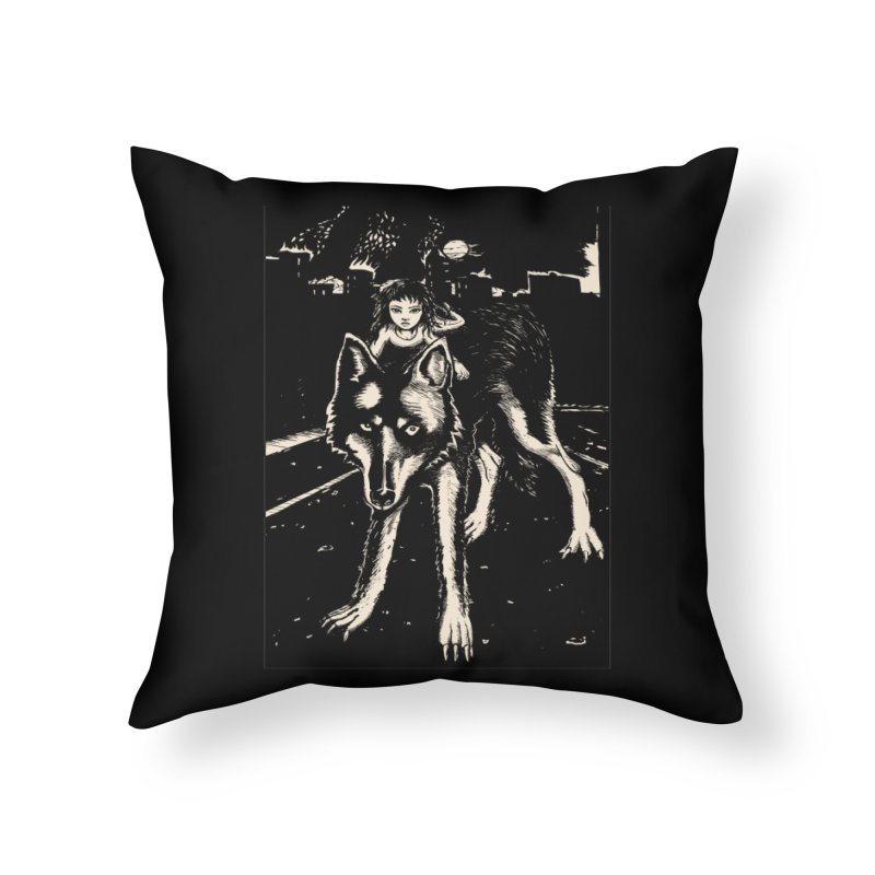 wolf rider Home Throw Pillow by truthpup's Artist Shop