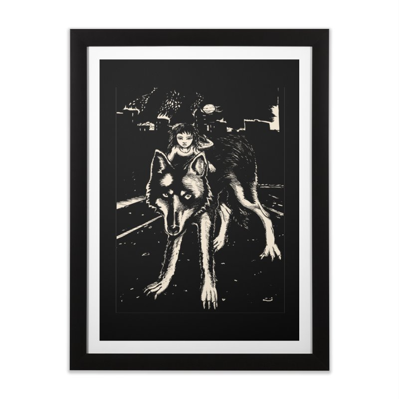 wolf rider Home Framed Fine Art Print by truthpup's Artist Shop