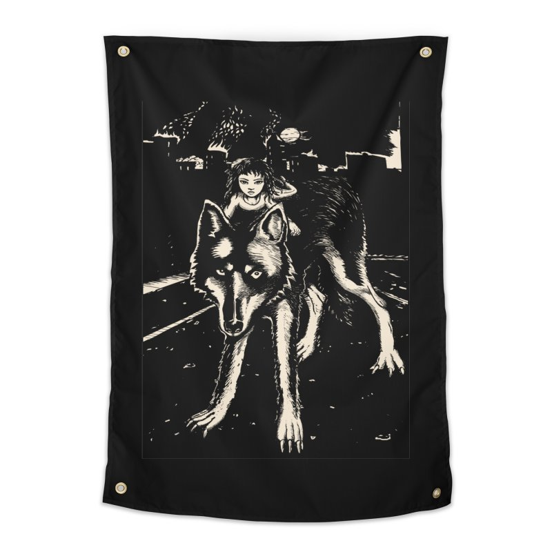 wolf rider Home Tapestry by truthpup's Artist Shop