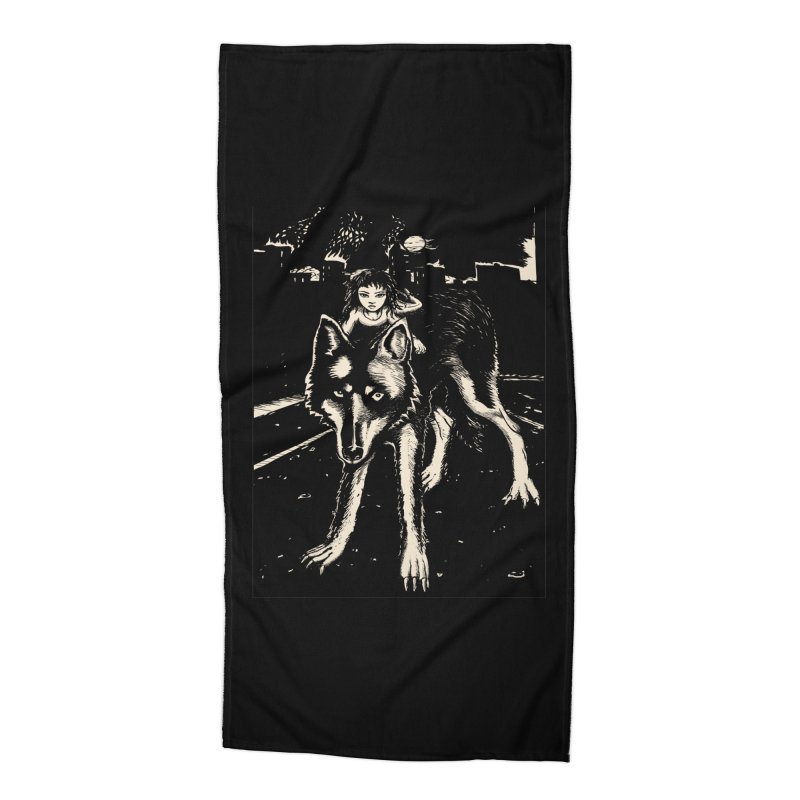 wolf rider Accessories Beach Towel by truthpup's Artist Shop