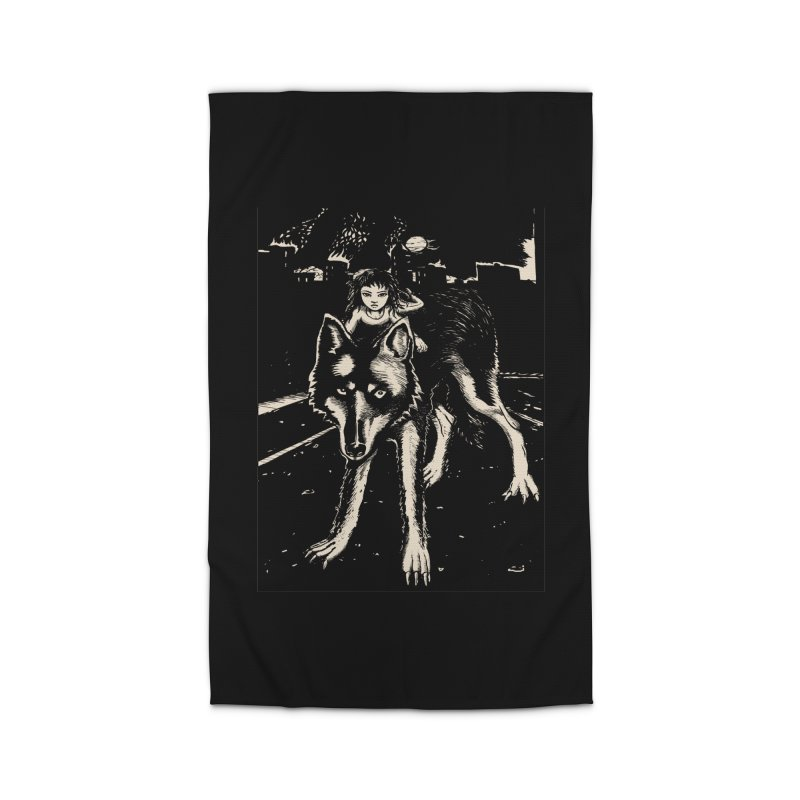 wolf rider Home Rug by truthpup's Artist Shop