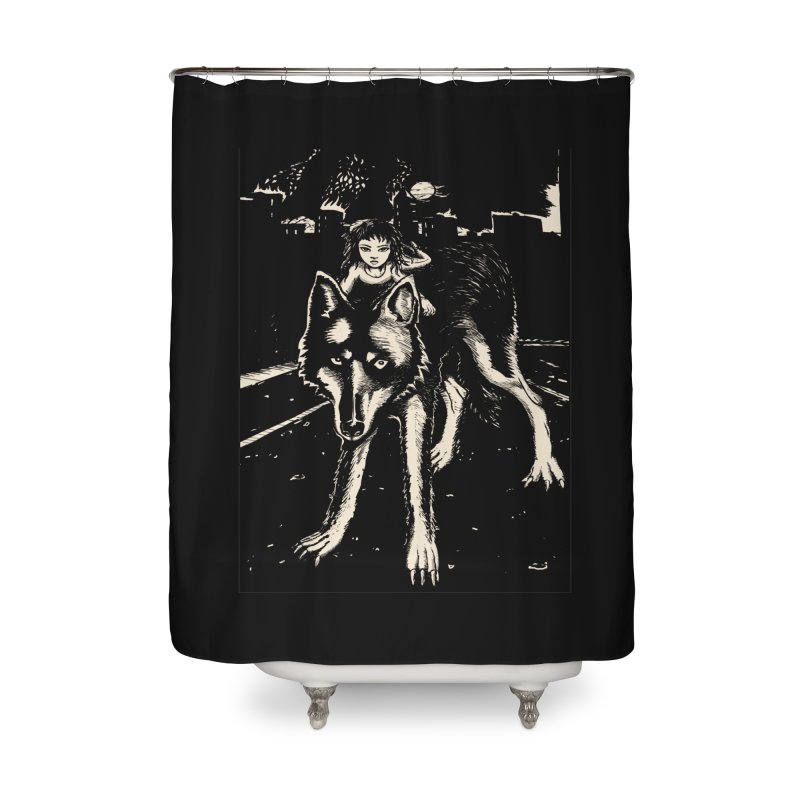 wolf rider Home Shower Curtain by truthpup's Artist Shop