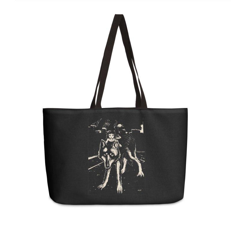 wolf rider Accessories Weekender Bag Bag by truthpup's Artist Shop