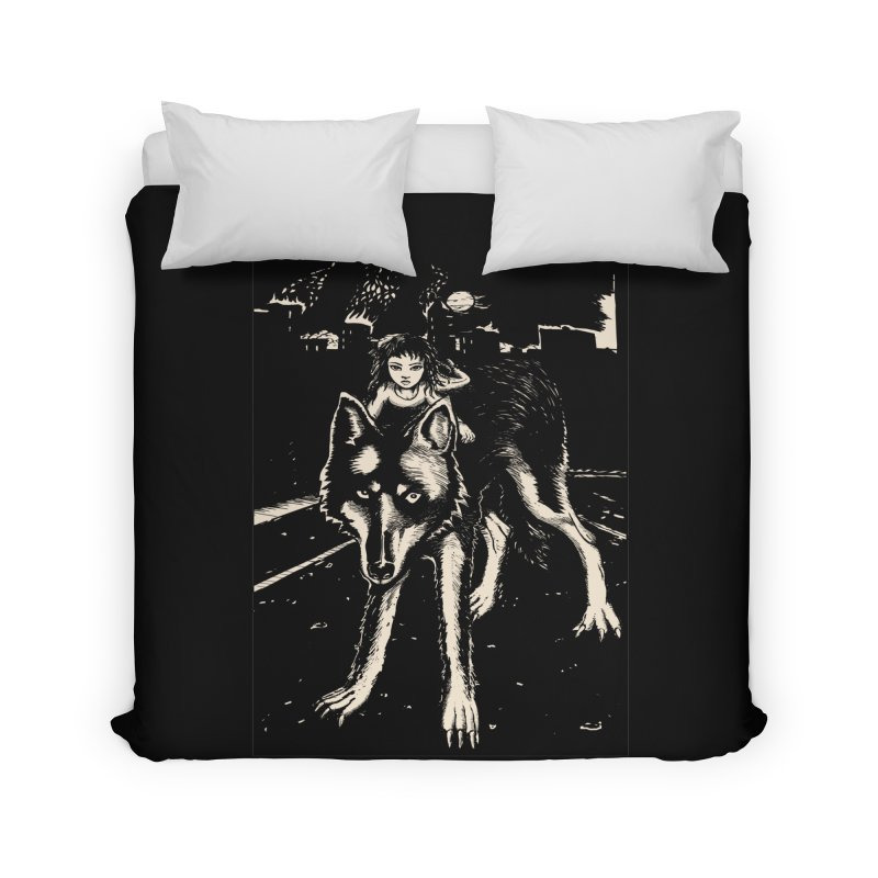 wolf rider Home Duvet by truthpup's Artist Shop