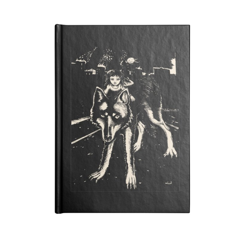 wolf rider Accessories Lined Journal Notebook by truthpup's Artist Shop