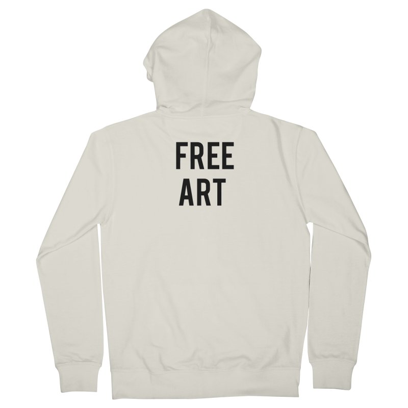 free art Men's French Terry Zip-Up Hoody by truthpup's Artist Shop