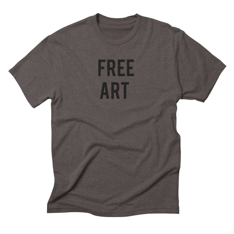 free art Men's Triblend T-Shirt by truthpup's Artist Shop