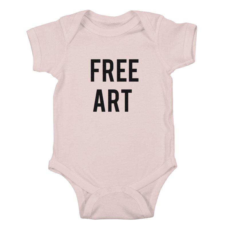 free art Kids Baby Bodysuit by truthpup's Artist Shop