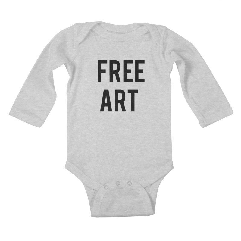free art Kids Baby Longsleeve Bodysuit by truthpup's Artist Shop