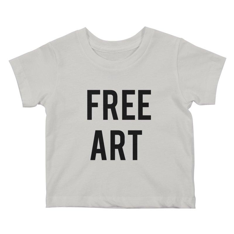 free art Kids Baby T-Shirt by truthpup's Artist Shop