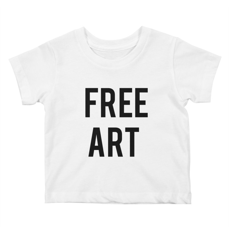 free art Kids Baby T-Shirt by truthpup's Artist Shop