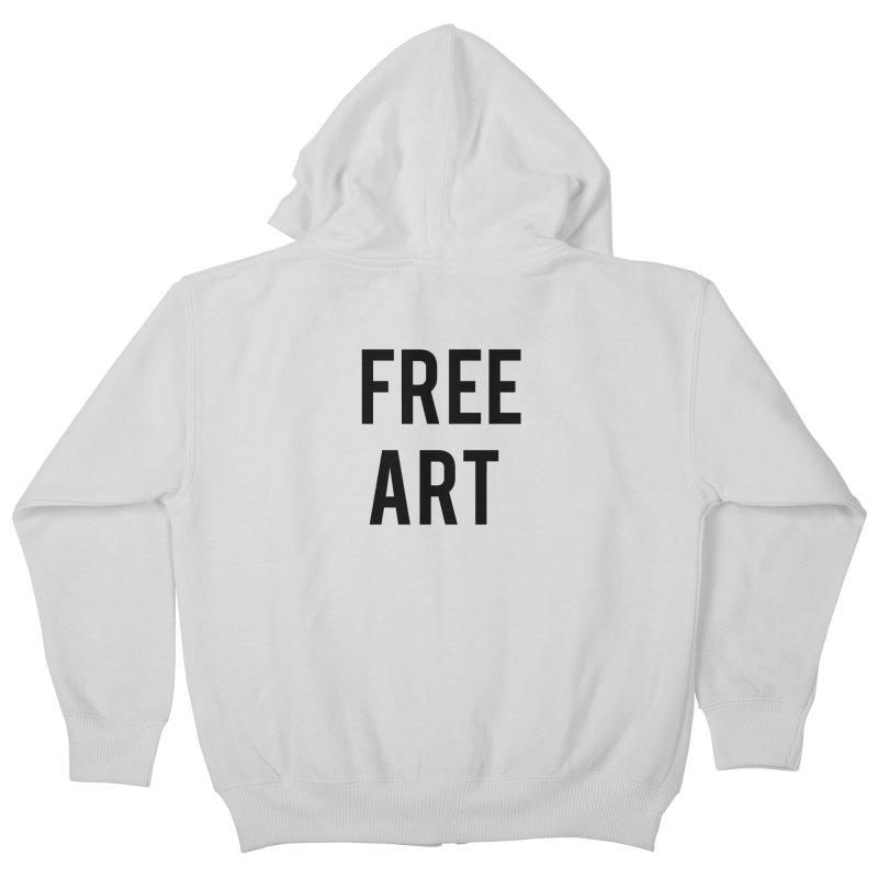free art Kids Zip-Up Hoody by truthpup's Artist Shop