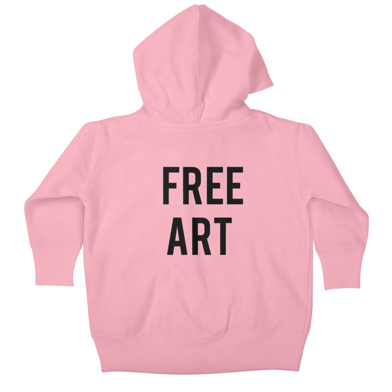 free art Kids Baby Zip-Up Hoody by truthpup's Artist Shop