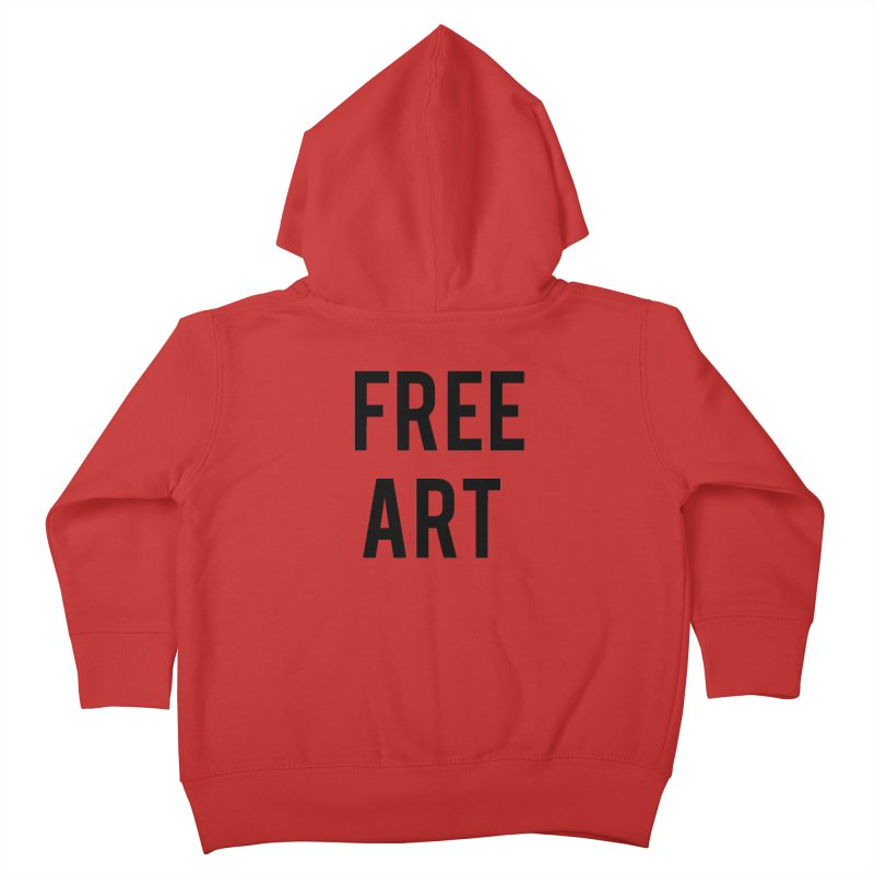 free art Kids Toddler Zip-Up Hoody by truthpup's Artist Shop