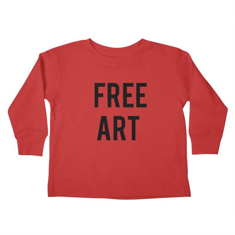 free art Kids Toddler Longsleeve T-Shirt by truthpup's Artist Shop