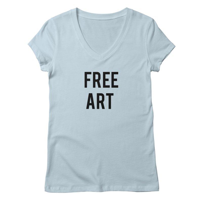 free art Women's Regular V-Neck by truthpup's Artist Shop