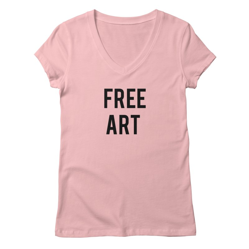 free art Women's V-Neck by truthpup's Artist Shop