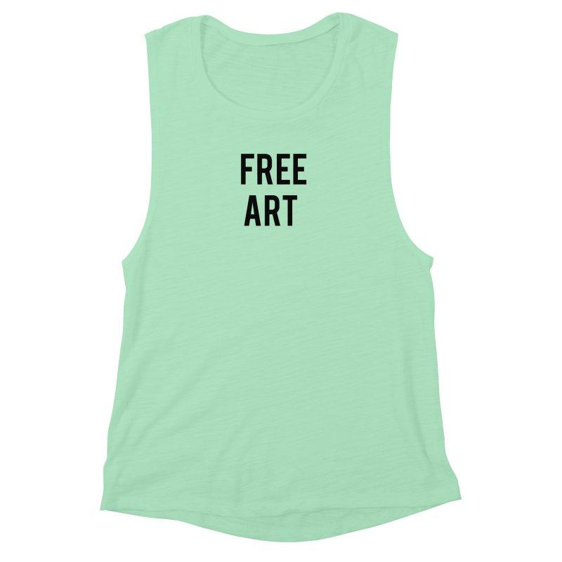 free art Women's Muscle Tank by truthpup's Artist Shop