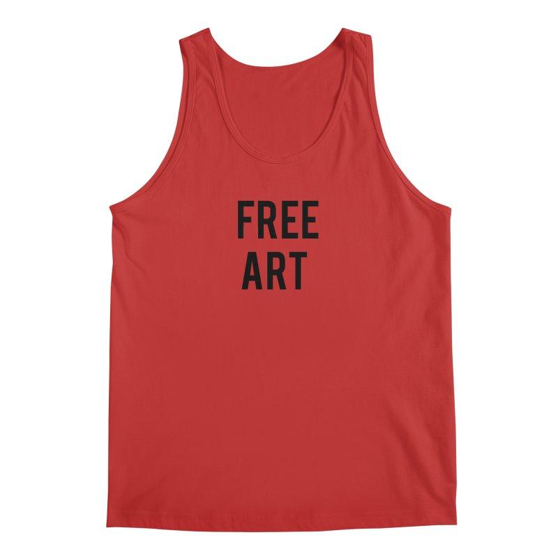 free art Men's Regular Tank by truthpup's Artist Shop