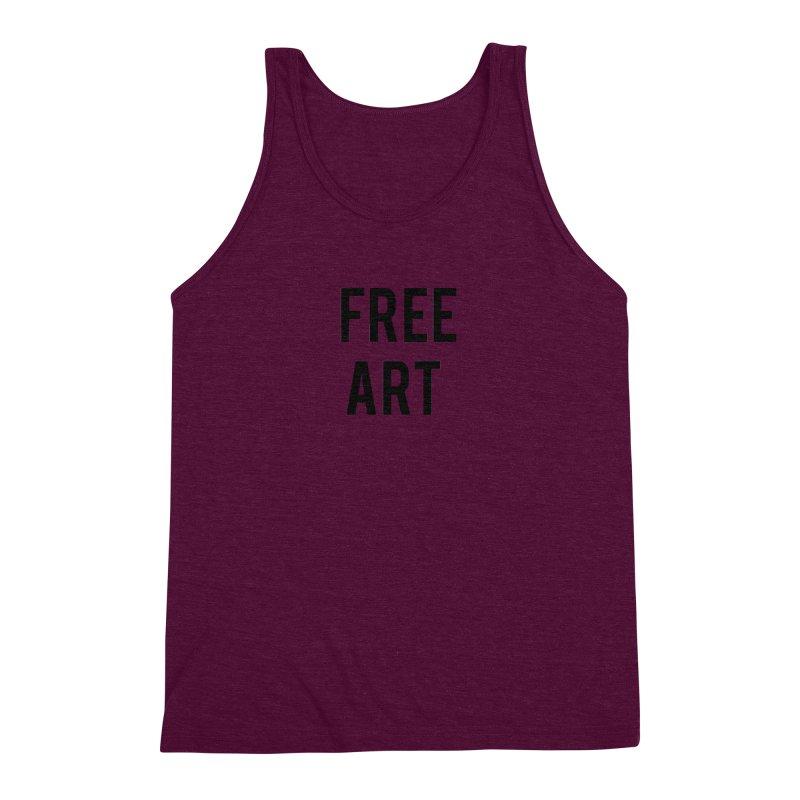free art Men's Triblend Tank by truthpup's Artist Shop