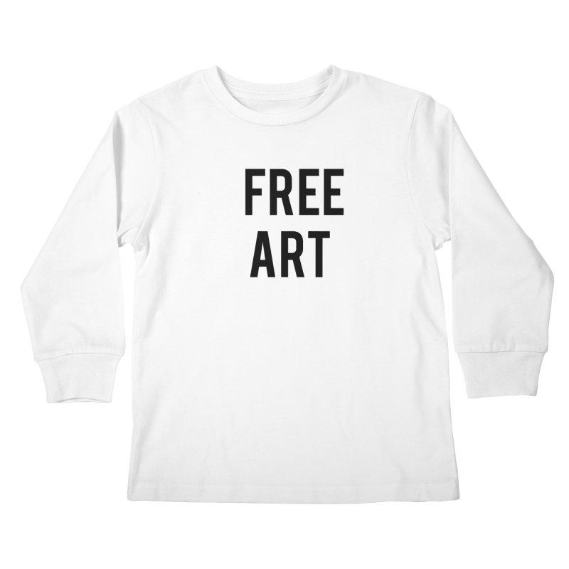 free art Kids Longsleeve T-Shirt by truthpup's Artist Shop