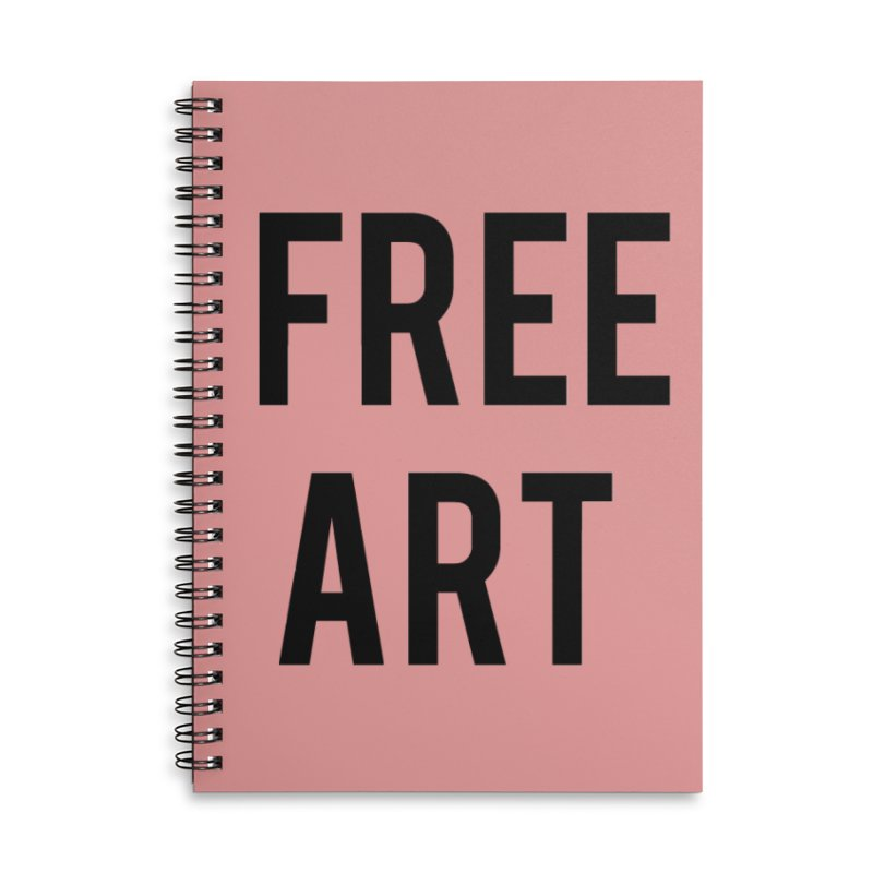 free art Accessories Lined Spiral Notebook by truthpup's Artist Shop