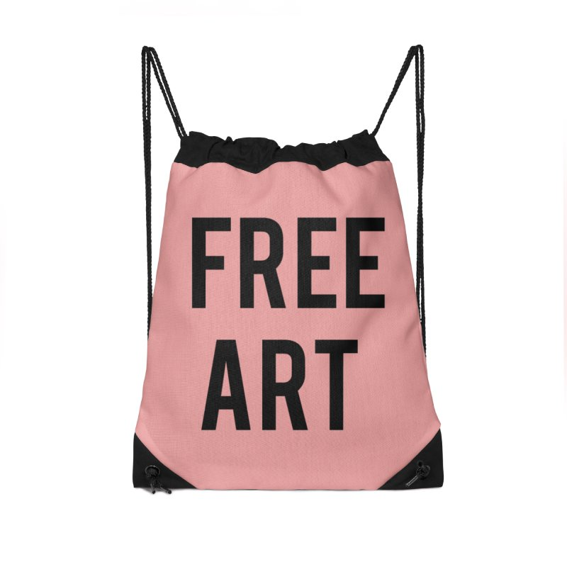 free art Accessories Drawstring Bag Bag by truthpup's Artist Shop