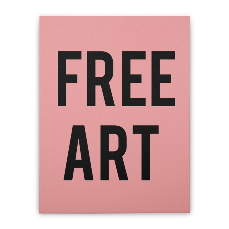 free art Home Stretched Canvas by truthpup's Artist Shop