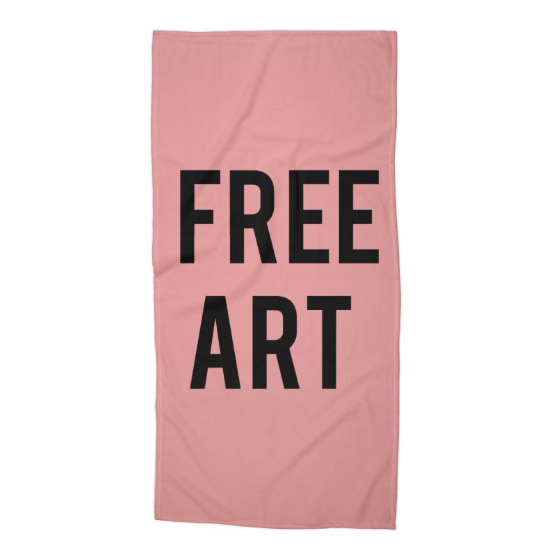 free art Accessories Beach Towel by truthpup's Artist Shop