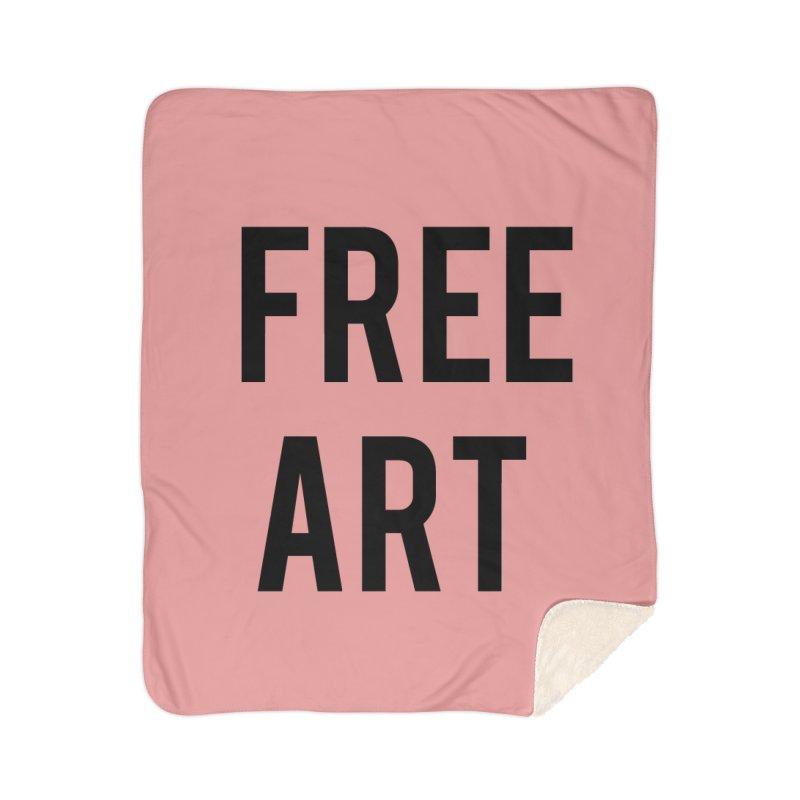 free art Home Sherpa Blanket Blanket by truthpup's Artist Shop