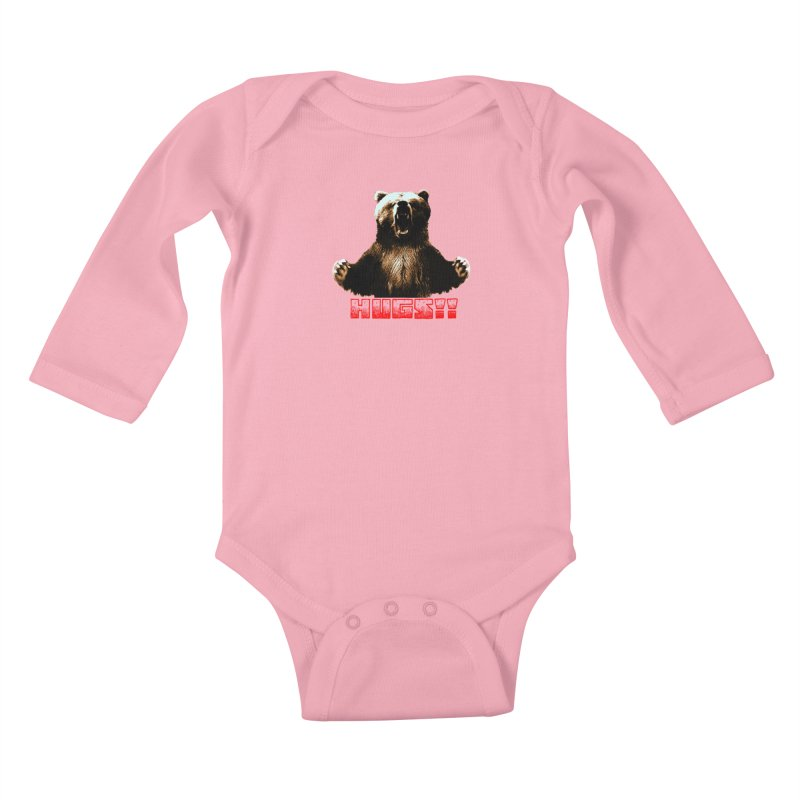 HUGS!!  Kids Baby Longsleeve Bodysuit by truthpup's Artist Shop